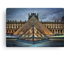 Louvre Pyramids Canvas Print