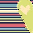 Cute Green Heart by Starsania