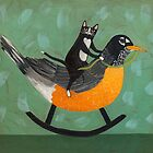 Cats on a Rocking Robin by Ryan Conners