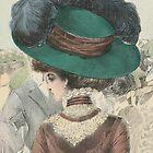 Paris Fashion Lady in a Green Hat II by studio20seven