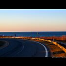 Montauk Highway View On Atlantic Ocean - Montauk, New York  by  Sophie Smith