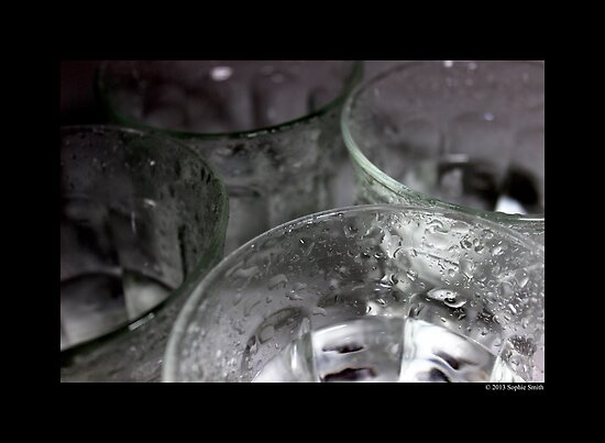 Vintage Drinking Glasses Detail by © Sophie W. Smith