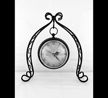 Vintage Wrought Iron Table Clock by © Sophie W. Smith