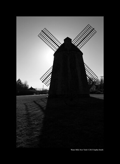 Historic Windmill - Water Mill, New York by © Sophie W. Smith