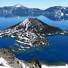 Wizard Island - Crater Lake, Klamath County, OR by Rebel Kreklow