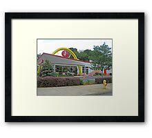 Old Style Golden Arches in Bethlehem, PA, USA Framed Print