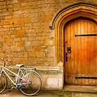 A bike and a door in Oxford by Elana Bailey