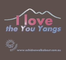 I love the You Yangs - dark background 2 T-Shirt