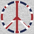 Peace symbol with British flag by nadil