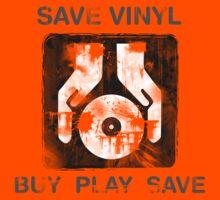Save Vinyl - Record DJ Music by HOTDJGEAR