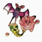 Clafairy, Zubat, and Caterpie Pokemon shirt! by linwatchorn