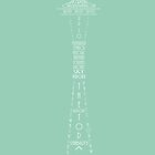 'Wordy Structures' Space Needle Blue by Becki Breed