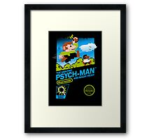 The Amazing Psych-Man!! (and Magic Head) Framed Print