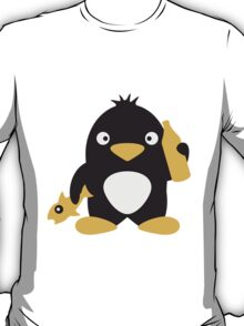 Fish And Beer Penguin T-Shirt