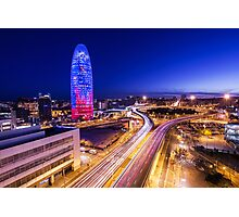 Torre Agbar Photographic Print