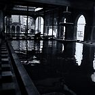 Silhouette by pool by Aurobindo Saha