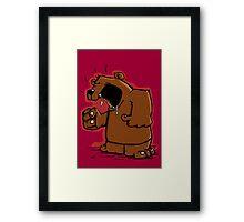 Grumpy Bear has an Argument Framed Print