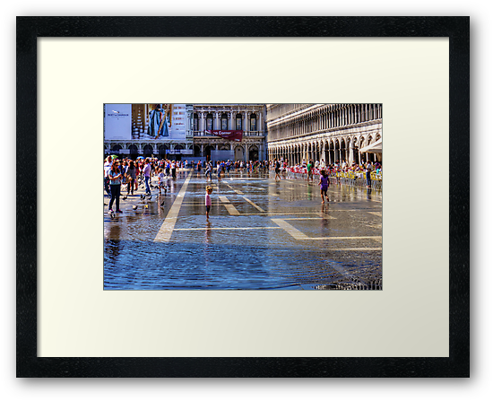 Paddling in Piazza San Marco by Tom Gomez