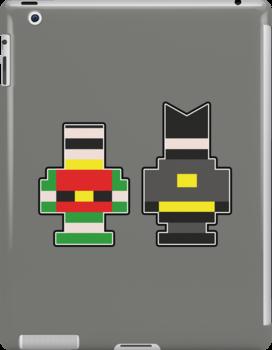 Batman & Robin... Brick Form! by Jonathan  Ladd