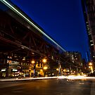 Chicago streets time exposure by Sven Brogren