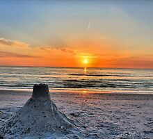 Sand Castle Sunset HDR by Jeff Ore