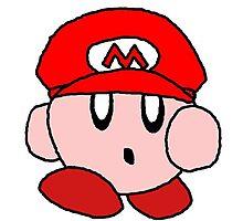 Supersized Mario Kirby  Photographic Print