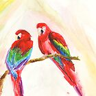 Pair-o-Parrots by daniyellow