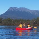 Canoeing lake Rosebury, Tasmania. by Esther's Art and Photography