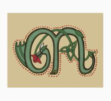 Celtic Oscar letter M Sticker by Donna Huntriss