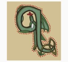 Celtic Oscar letter Q Sticker by Donna Huntriss
