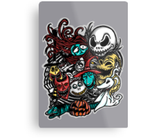 Nightmarish Characters Metal Print