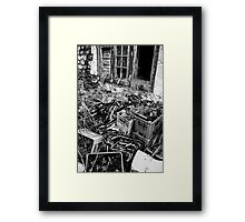Behind the Old Public House Framed Print
