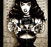 Banged up Bettie Page Art Print  by ScreamingDemons