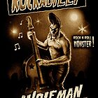 Vintage Style Rockabilly Wolfman Art  by ScreamingDemons