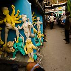 Making idols - beside streets of Kumortuli by Aurobindo Saha