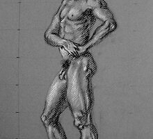 Study of a Nude Man by Barb Paul