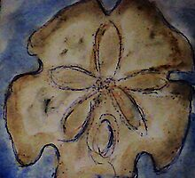 Sand dollar, watercolor by Anna  Lewis