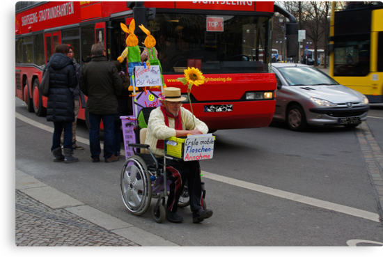 man on wheelchair by konsolakism