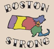 Boston Strong Massachusetts Tattoo Tee by DCVisualArts