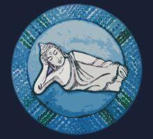 Mandala Tee, Hoodie, Sticker : Water Reclining Buddha by danita clark