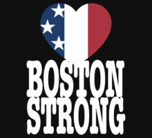 Boston Strong USA Heart by BrBa