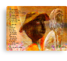 Man of Wisdom Canvas Print