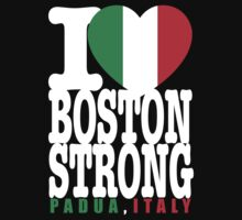 I Heart Boston Strong Padua Italy black shirt by BrBa