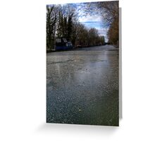 Frozen Canal in Berkshire Greeting Card