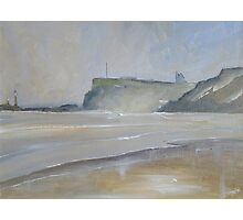 View to Whitby from Sandsend Photographic Print