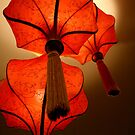 red lanterns by lensbaby