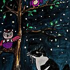 Who&#x27;s there the Owl or The Pussy Cat? by Monica Engeler