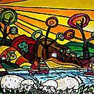 Sunset Sheep by Monica Engeler