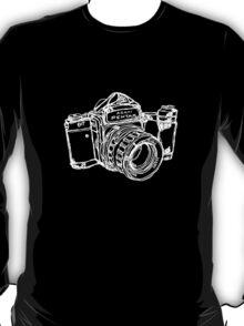 Pentax 6X7 Medium Format Camera WHITE INK T-Shirt