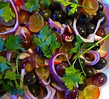 Grape & Red Onion Salad by Mark Haynes Photography